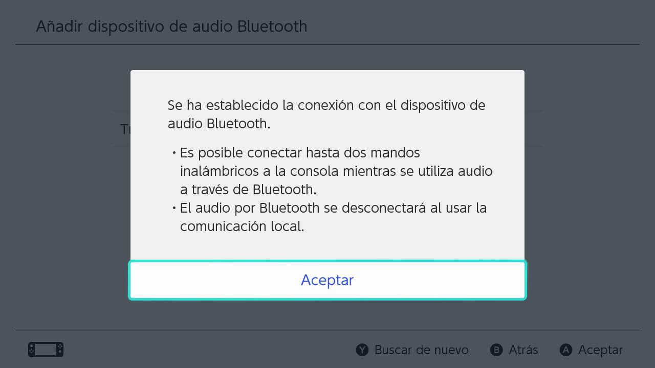 auriculares bluetooth conectados a nintendo switch