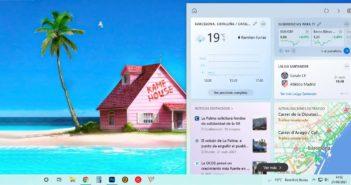 Cómo abrir los enlaces de Noticias y el Tiempo de Windows 10 en Chrome