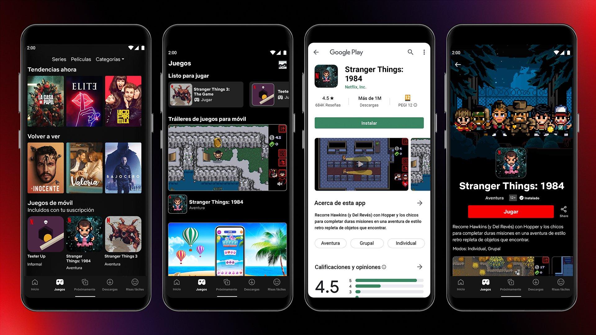 netflix videojuegos app