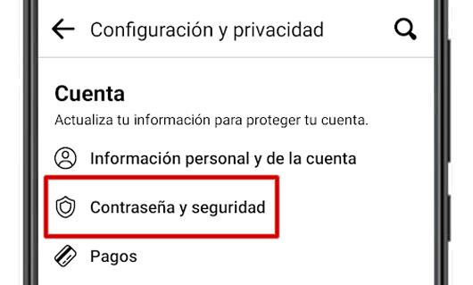 facebook contraseña y seguridad configuracion